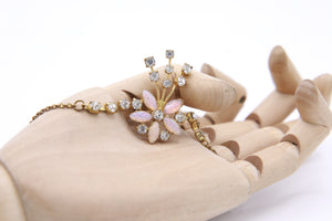 "Vintage ""opaline paste"" 1930s necklace"
