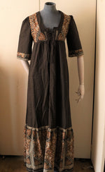 Load image into Gallery viewer, Vintage 1970s brown paisley maxi dress