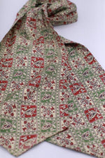 "Load image into Gallery viewer, ""Tootal paisley"" Vintage 1940s cotton rayon cravat"