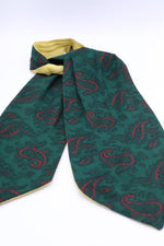 "Load image into Gallery viewer, ""Tootal green"" Vintage 1950s cotton rayon cravat"