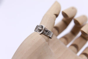 """Victorian Buckle ring"" Sterling silver Size Y"