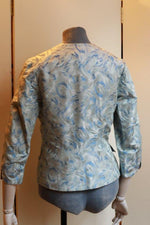 "Load image into Gallery viewer, ""1930s style jacket"" fitted silk with an abstract pattern."
