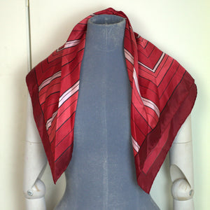 """1970s Geometric"" Vintage Square Scarf"