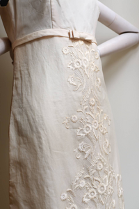 """Vintage ivory dress"" 1960s Exclusively made."