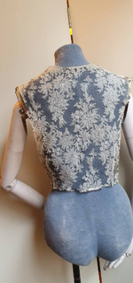"Load image into Gallery viewer, ""1920s blouse"" Delicate handmade lace."