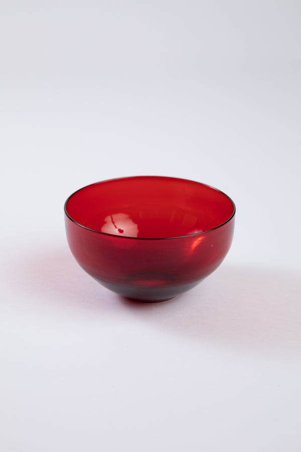SET OF 12 RED STEUBEN RED BOWLS
