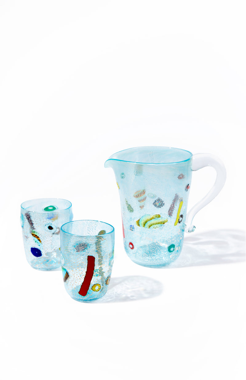 SET OF 2 TUTTI FRUTTI TUMBLERS BLUE