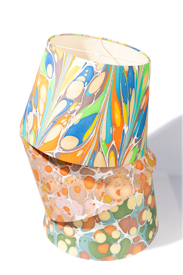 MARBLED PAPER LAMP SHADE