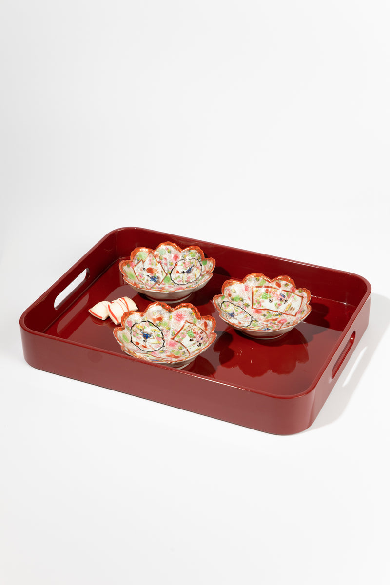 Medium Red Lacquer Tray