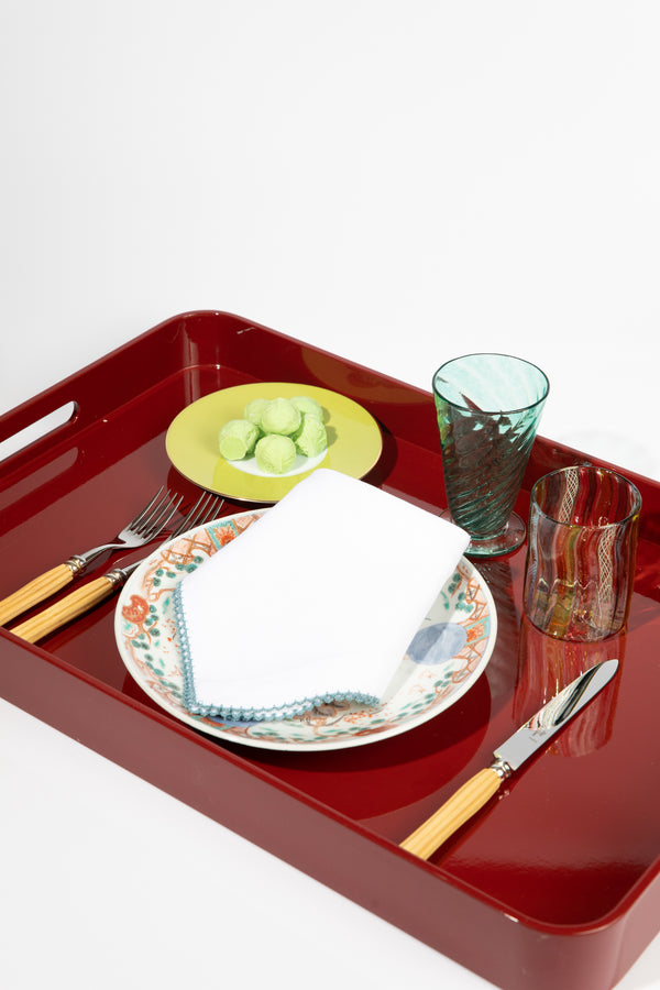 Large Red Lacquered Tray