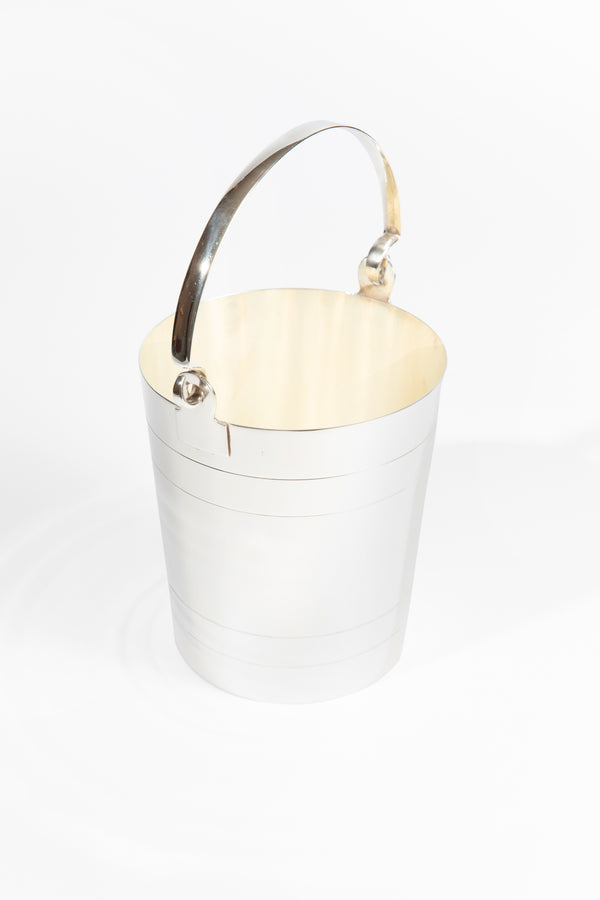 VINTAGE SILVER ICE PAIL WITH HANDLE