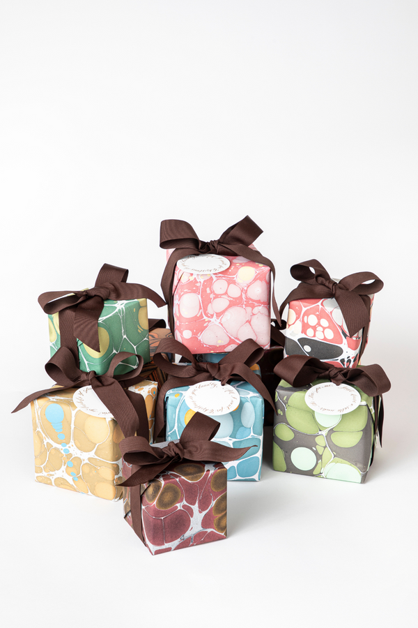 Set of 4 Classic Marbled Gift Wrap
