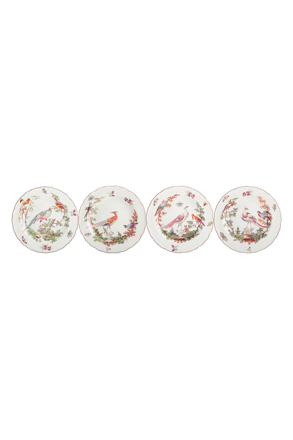 SET OF 4 CHELSEA BIRD PLATES