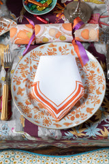 SET OF 2 TANGERINE DINNER NAPKINS