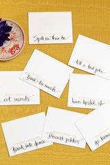 SET OF 24 SUPERLATIVES PLACE CARDS