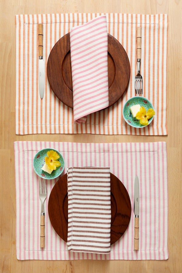 SET OF 2 STRIPED PLACEMATS