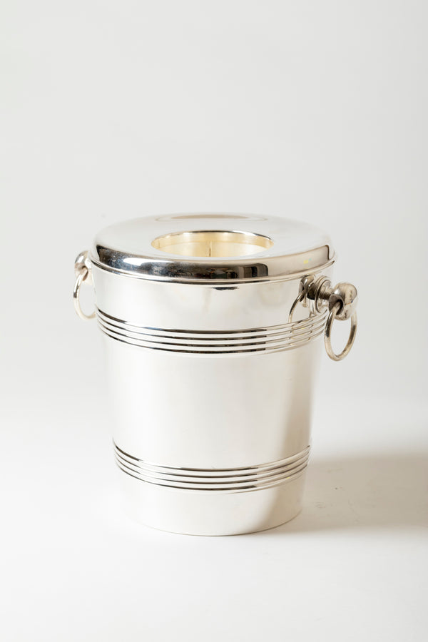 VINTAGE SILVER CHAMPAGNE BUCKET WITH CHILLER