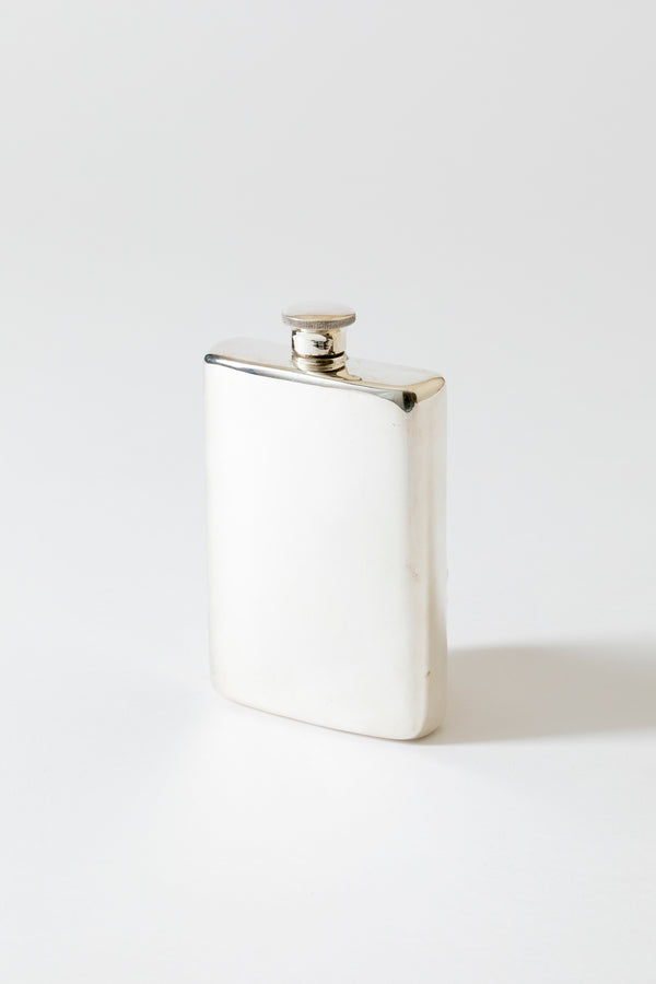 VINTAGE SILVER LARGE HIP FLASK