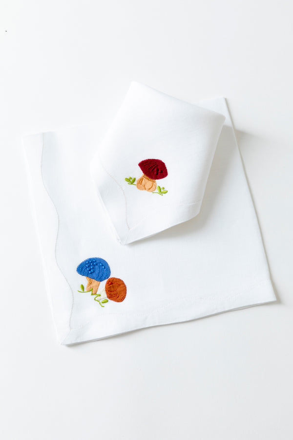 SET OF 2 SCHROOM DINNER NAPKINS