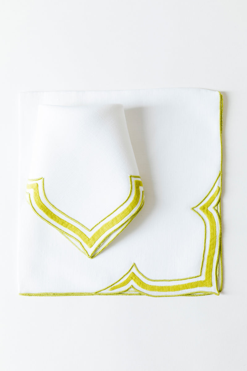 SET OF 2 CHARTREUSE DINNER NAPKINS