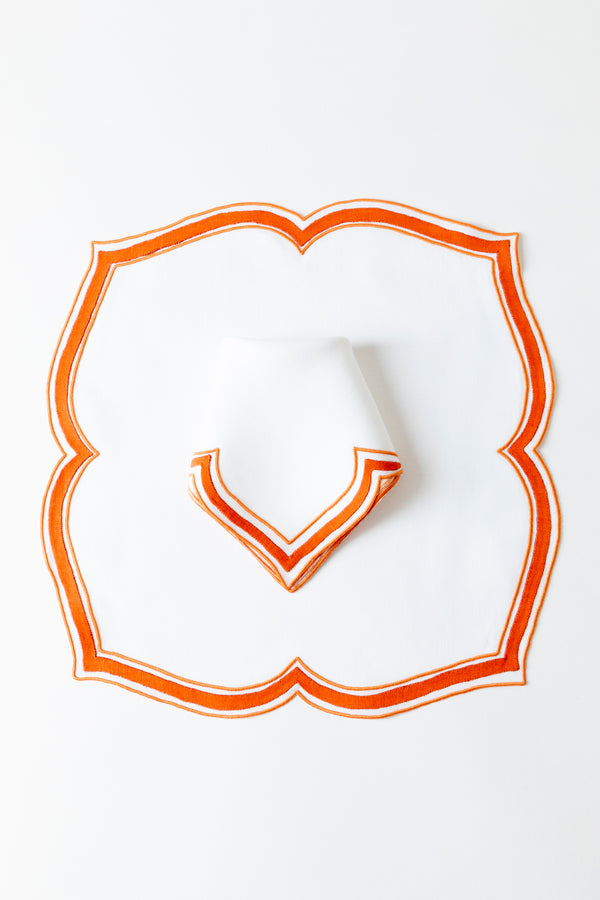 SET OF 2 TANGERINE PLACEMATS