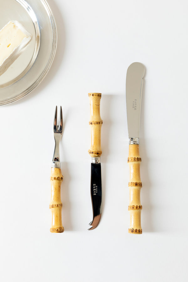 SET OF 3 BAMBOO CHARCUTERIE AND CHEESE IMPLEMENTS