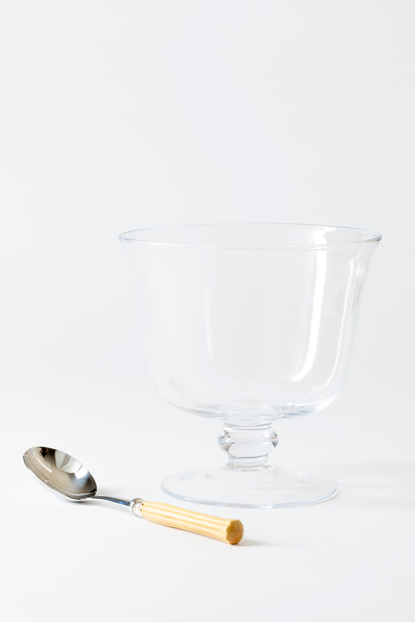 GLASS TRIFLE SERVING BOWL