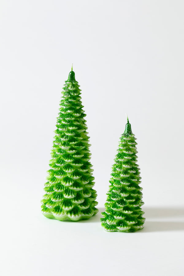 CANDLES DRESSED AS FIR TREES