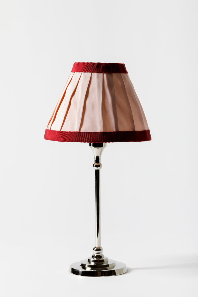 PINK SILK FAILLE TABLE LAMPSHADE