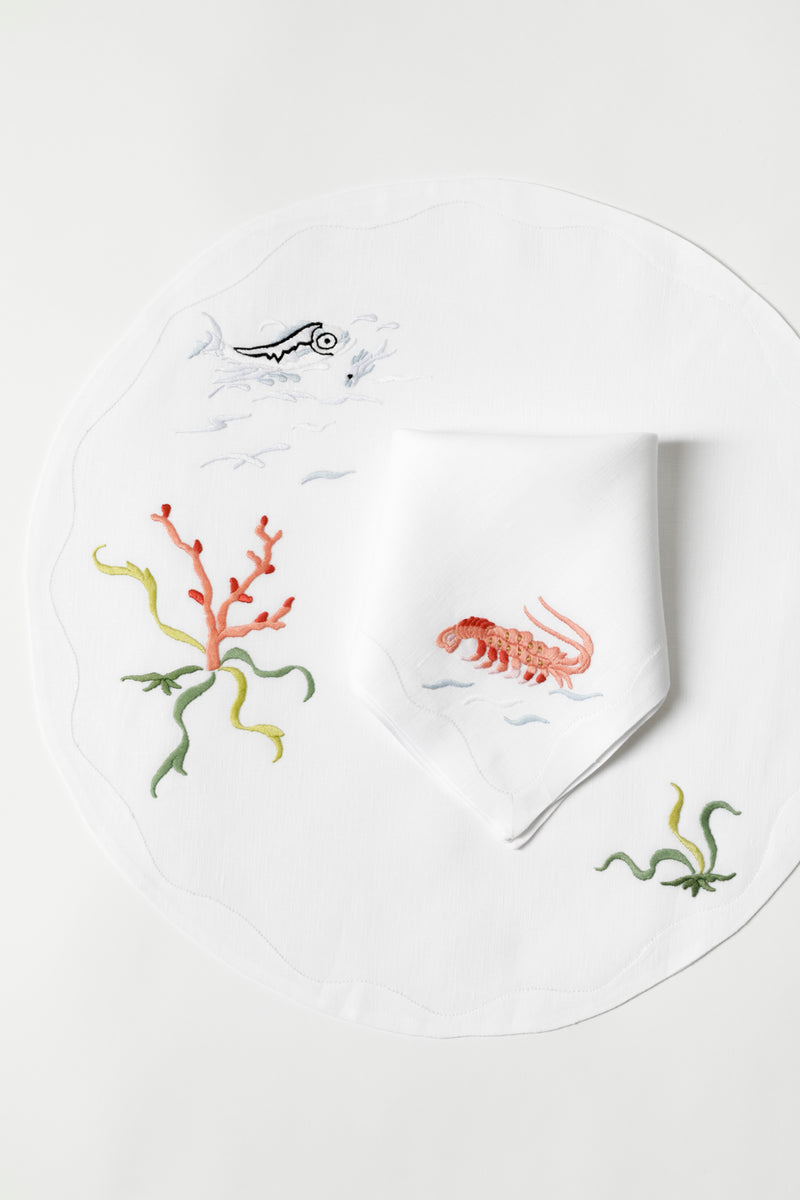 SET OF 4 CRUSTACEANS PLACEMATS