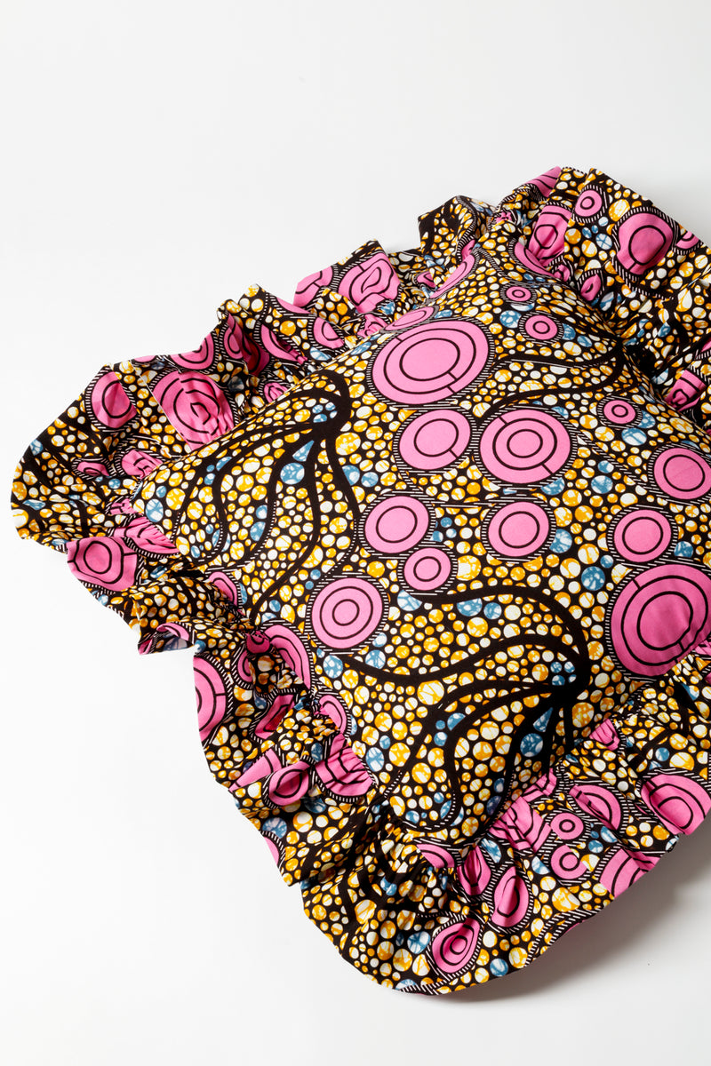 Ankara Pink Cushion