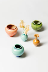 SET OF 5 MINIATURE VASES