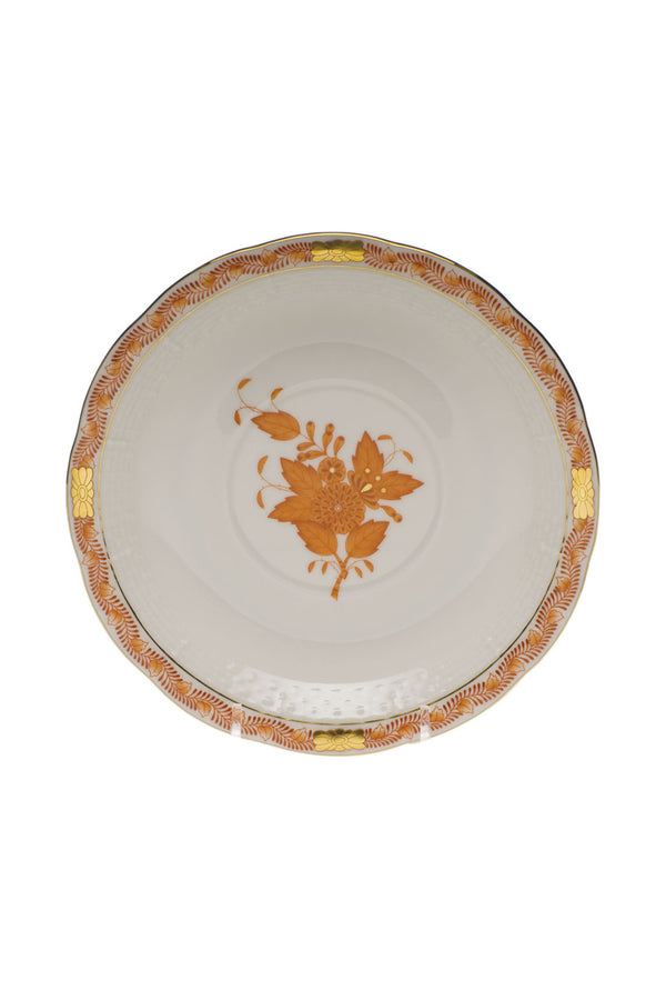 CHINESE BOUQUET RUST CREAM SOUP & SAUCER