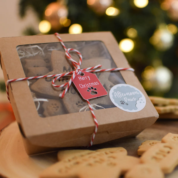 Personalised Christmas Dog Treats Gift Set