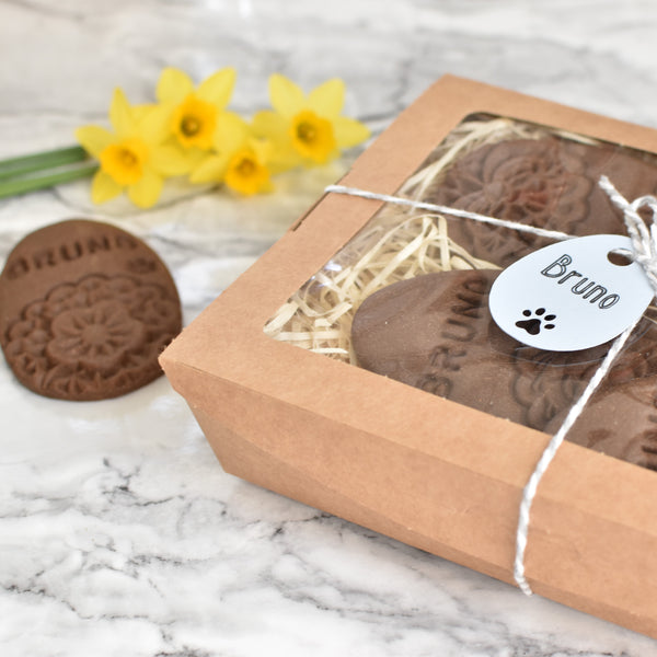 Personalised Easter Egg Dog Biscuits
