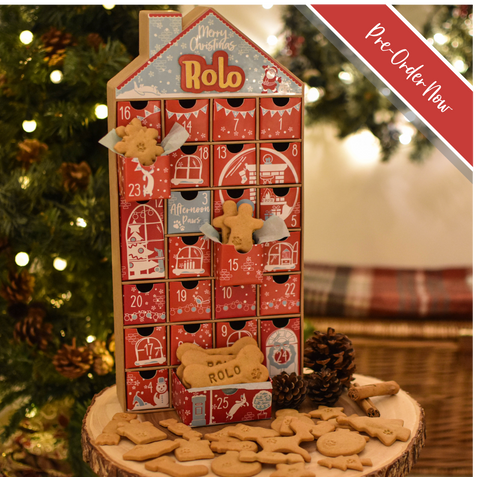 Personalised Filled Dog Christmas Advent Calendar