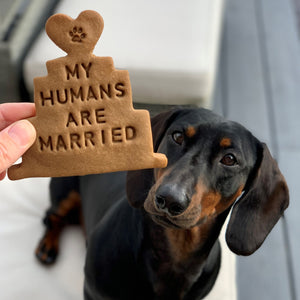 'My Humans Are Married' Dog Biscuits Wedding Gift