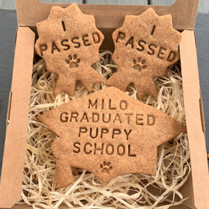 Personalised Puppy Graduation Biscuits