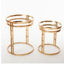 GOLD SIDE TABLE SET-HE19T022