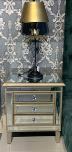CLASSIC WOODEN AND MIRROR PEDESTAL-MFRR-01