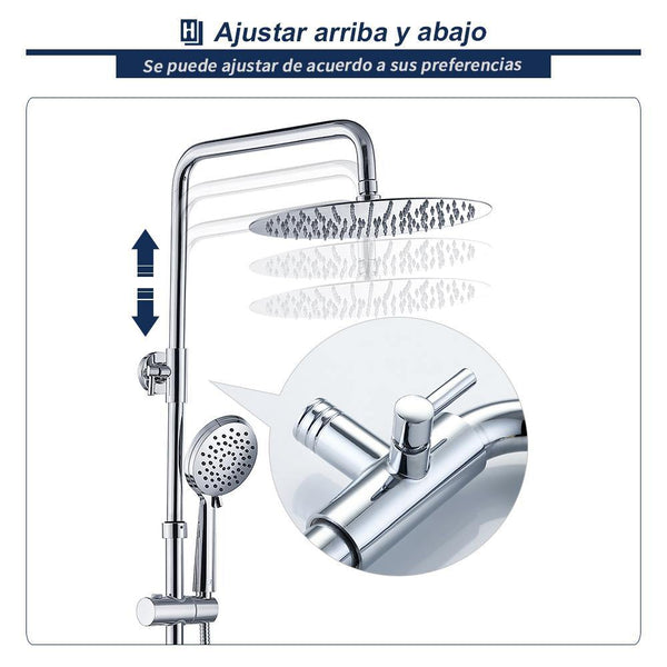 altura ajustable set de ducha