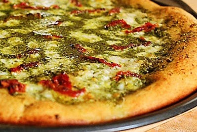 """FRESH BASIL PESTO & SUN DRIED TOMATOES PIZZA"" (Ready to Eat)"