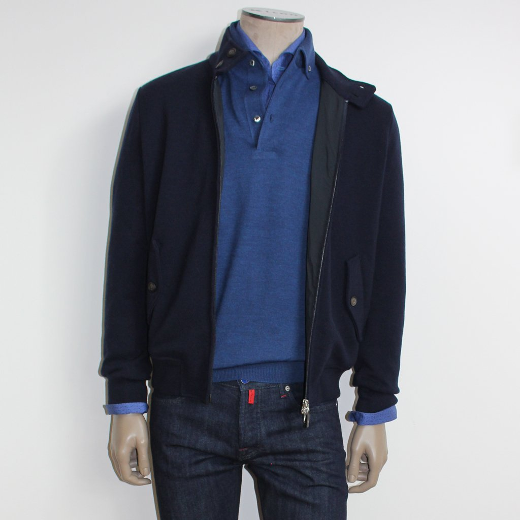 Gran Sasso Wool Bomber - Robert Jones Menswear