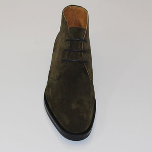 Edward Green Banbury Boot (Green Suede)