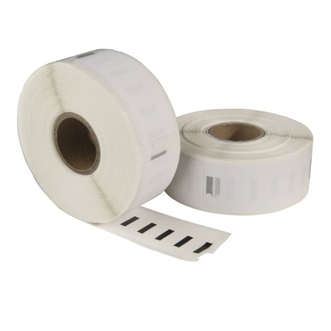 Dymo 11352 / S0722520 compatible labels, 54 mm x 25 mm, 500 etiketten per rol, wit, permanent