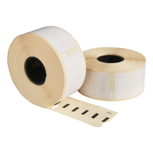 Dymo 11355 / S0722550 compatible labels, 19 mm x 51 mm, 500 etiketten per rol, wit, permanent