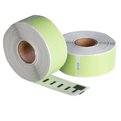 Dymo 99010 groen compatible labels, 89 mm x 28 mm, 260 etiketten, permanent