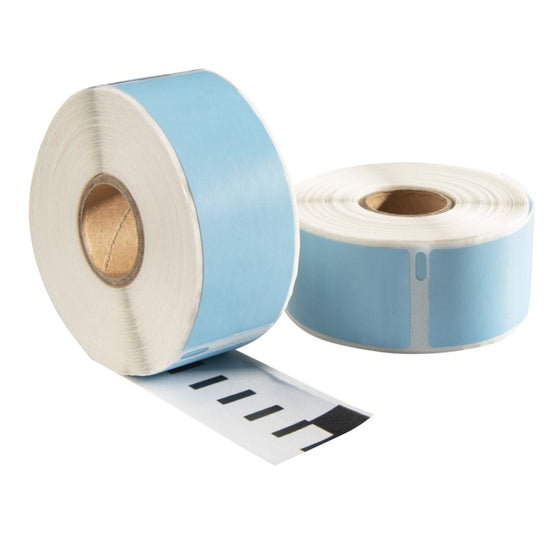 Dymo 99012 Blauw compatible labels, 89 mm x 36 mm, 260 etiketten, permanent