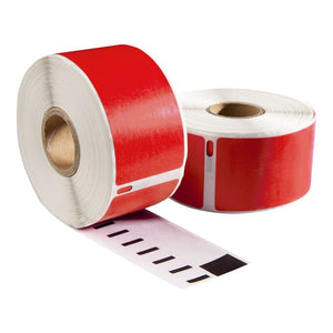 Dymo 99012 Rood compatible labels, 89 mm x 36 mm, 260 etiketten, permanent