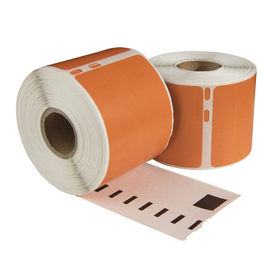 Dymo 99014 Oranje compatible labels, 101 mm x 54 mm, 220 etiketten, permanent